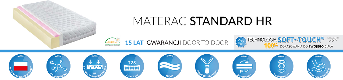Materac Standard HR Piankowy